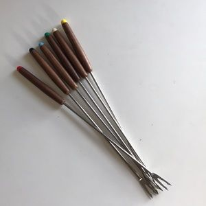 Vintage Mid Century Fondue Forks - Set of 6